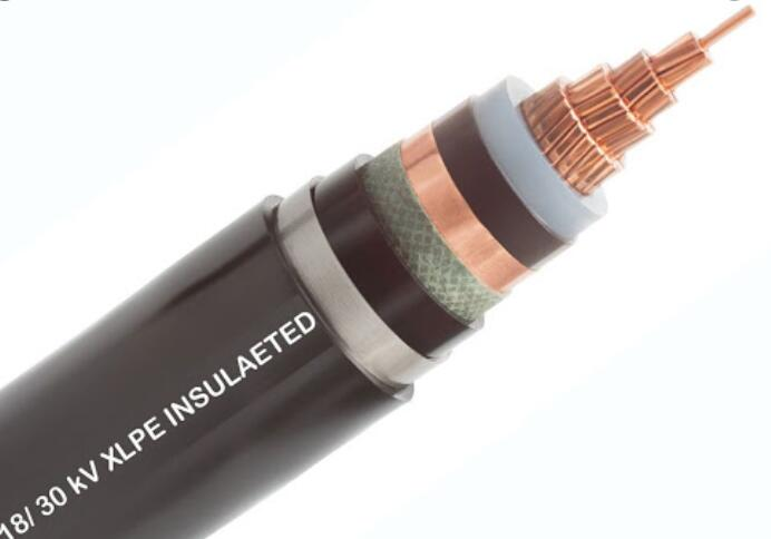 6/30kv Single-Three-Core AL/CU Conductor XLPE Insulated Copper Tape screened PVC Sheathed Power Cable(N2XSY,NA2XSY)